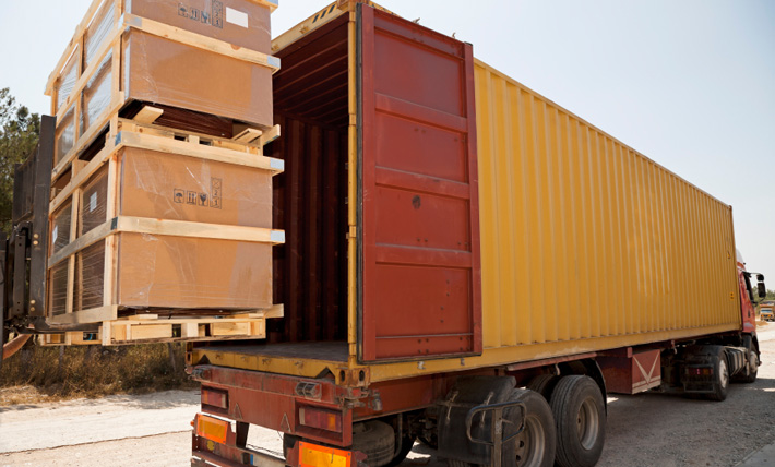 Loading a container for shipping