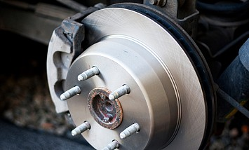 New brake wheel installed on an american car